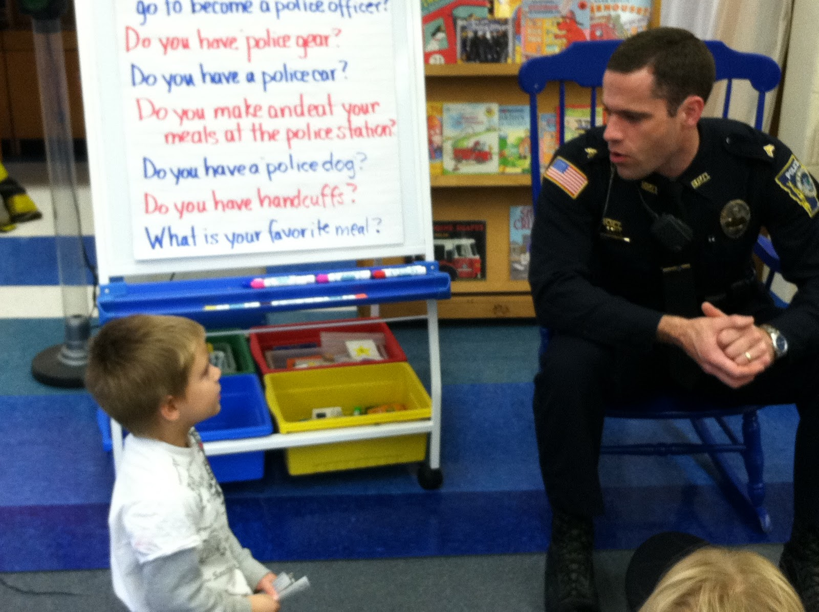 mrs parzych s kindergarten a from sgt carignan i want to be a police officer when i grow up just like you