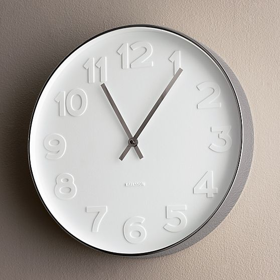 Copy Cat Chic West Elm Mr White Wall Clock