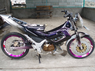 Modifikasi satria fu air brush 5