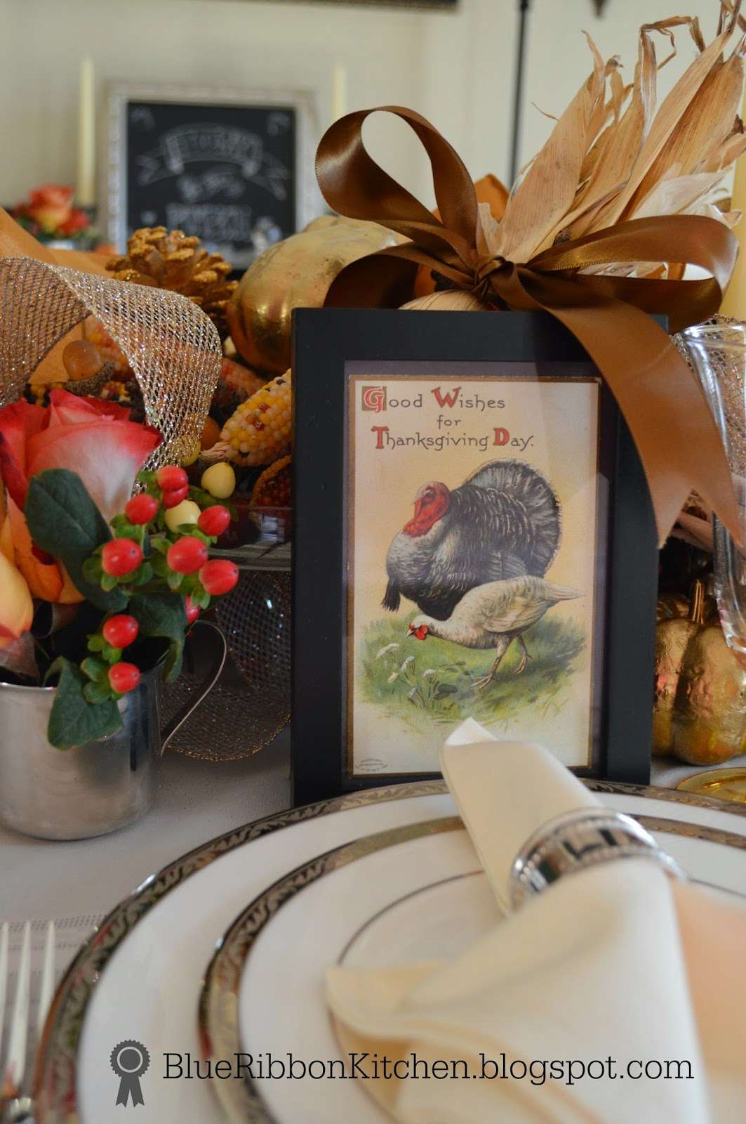 Blue ribbon kitchen thanksgiving table ideas the secret for Table 52 thanksgiving