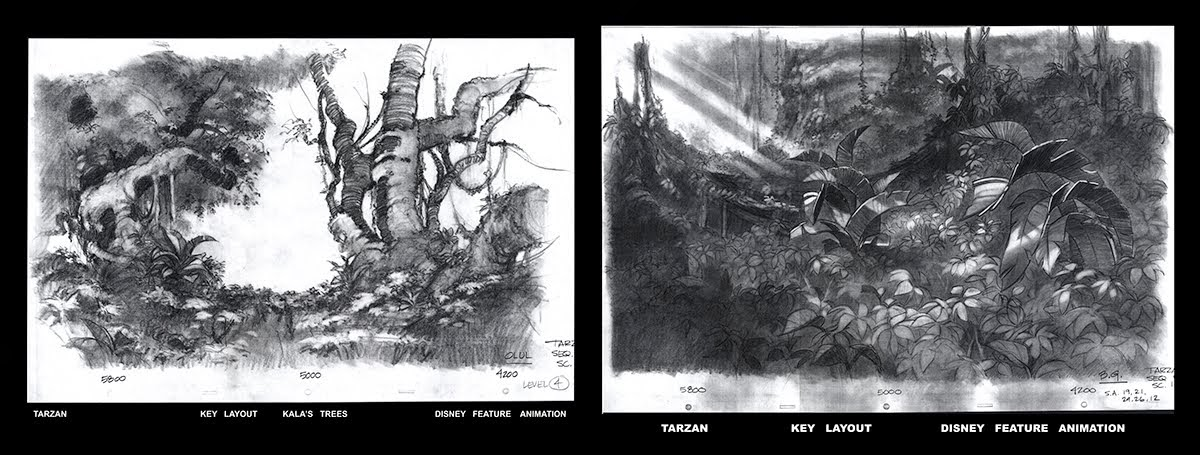 Tarzan  Layouts          Disney Feature Animation
