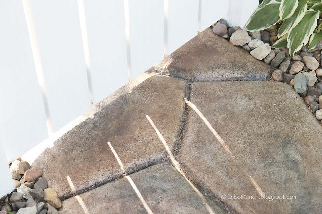 Stone Look Concrete Walkway