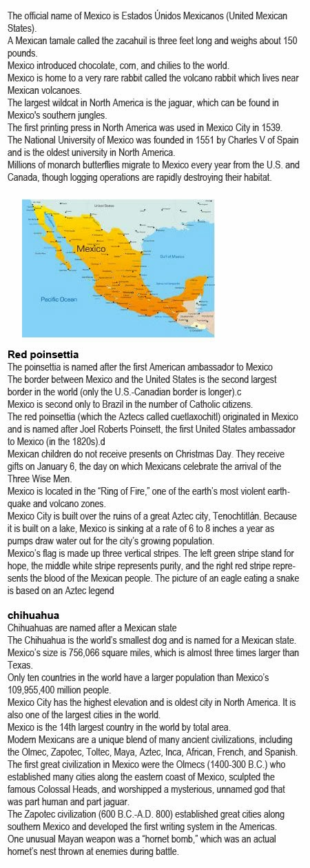 Fun facts about Mexico for kids