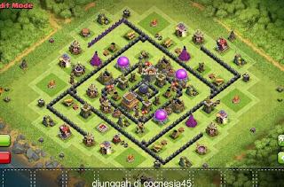 Base Clash of Clans TH8 Farming DE