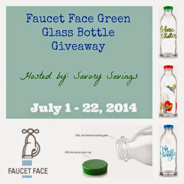 Faucet Face Glass Bottles Giveaway