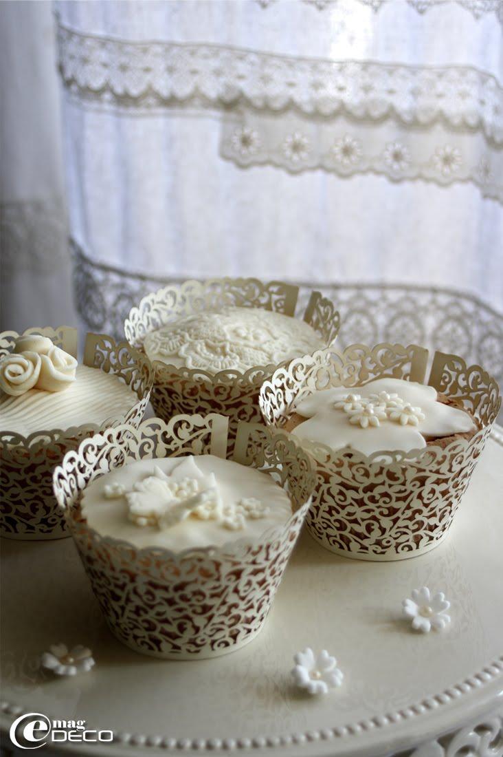 Cupcakes décorés avec de la pâte à sucre, créations de Nina Couto