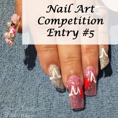 GCI Valentine's Day Nail Art Competition Entry 5