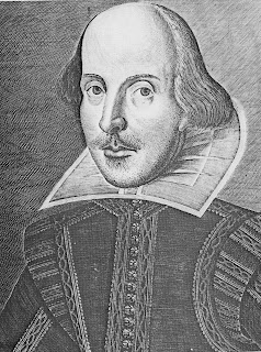engraving of shakespeare from First Folio