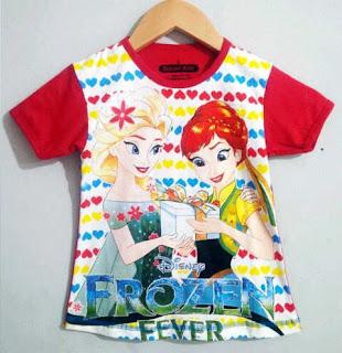 Baju Anak Karakter Frozen Fever Dream Kids Size 1 - 6 Y