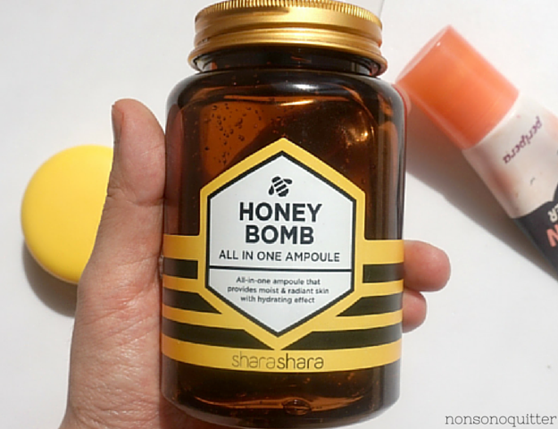 Shara Shara Honey Bomb All In One Ampoule Review, 250 ml!!! (It's huge!), 샤라샤라 꿀 폭탄 원킬 앰플 250ml