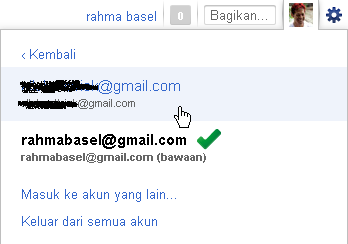 list multiple account gmail