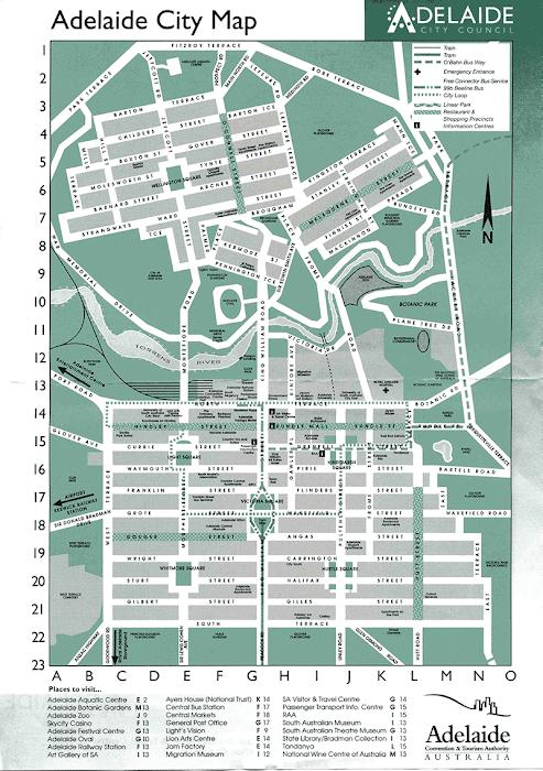 Mapa de Adelaide – Austrália