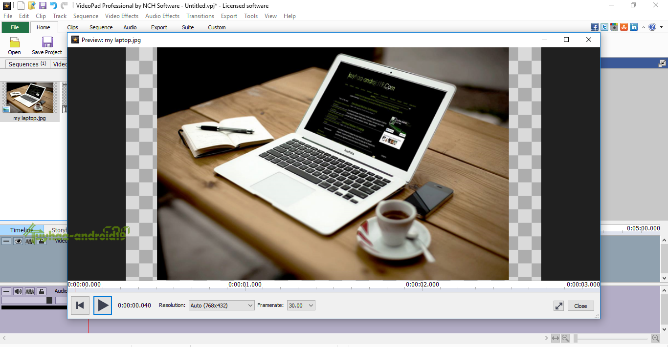 how to use videopad video editor professional