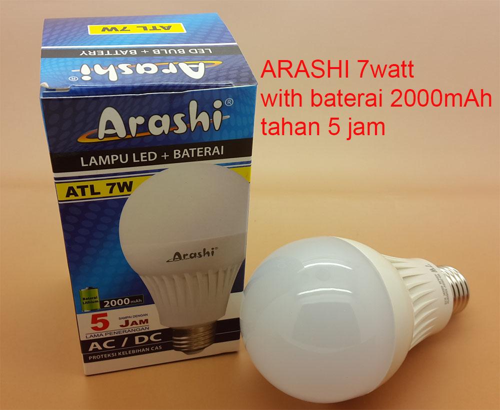 Lampu Emergency Led 7 Watt Daftar Harga Terkini Termurah Dan Hannochs Bola Basic Gojek Pick Up Arashi Tahan 5 Jam Baterai 2000mah