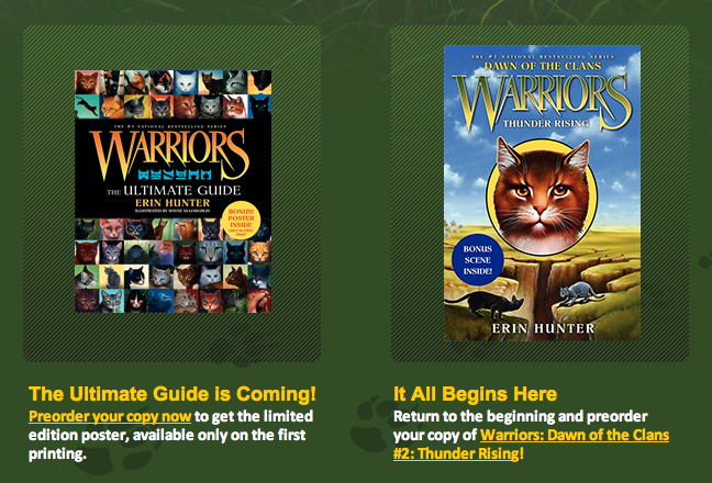 the information of warrior cats tug and tr are coming d