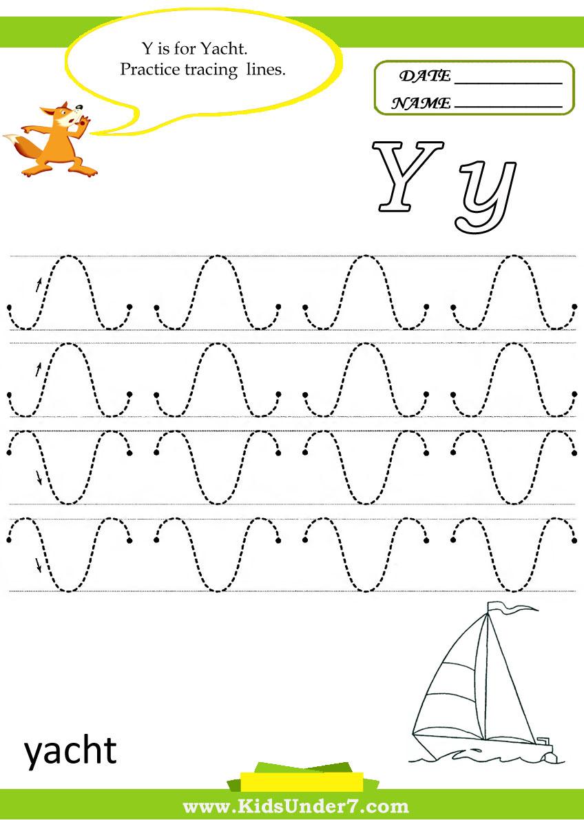 Kids Under 7 Letter Y Worksheets – Letter Y Worksheet