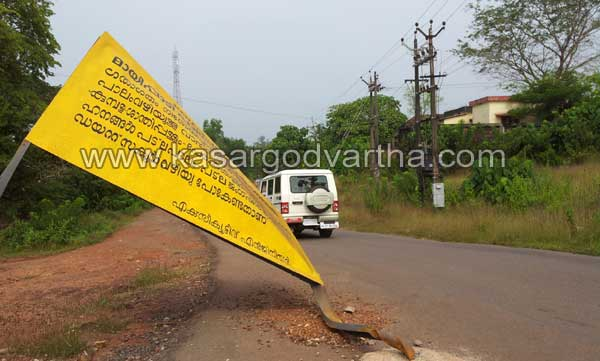  Mayipady bridge, Warning board, Danger, PWD, Kasargod, Kerala, Malayalam news