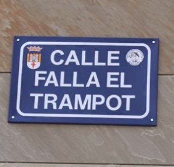 La Falla el Trampot, ya tiene calle en Enguera.
