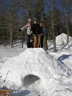 Image of people on a snow fort