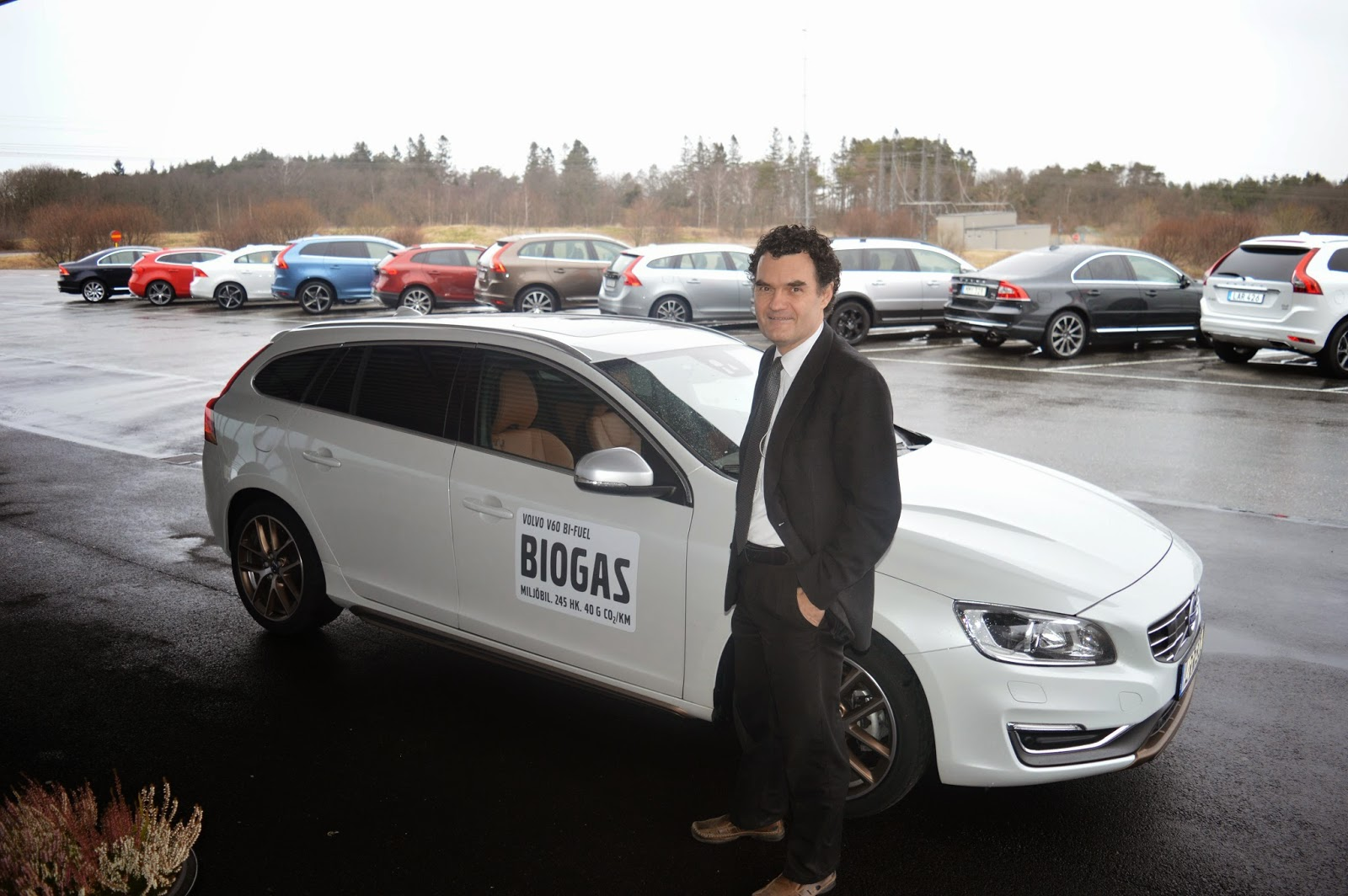 Ulf Möck of Volvo test drives the new 2106 bi-fuel Volvo
