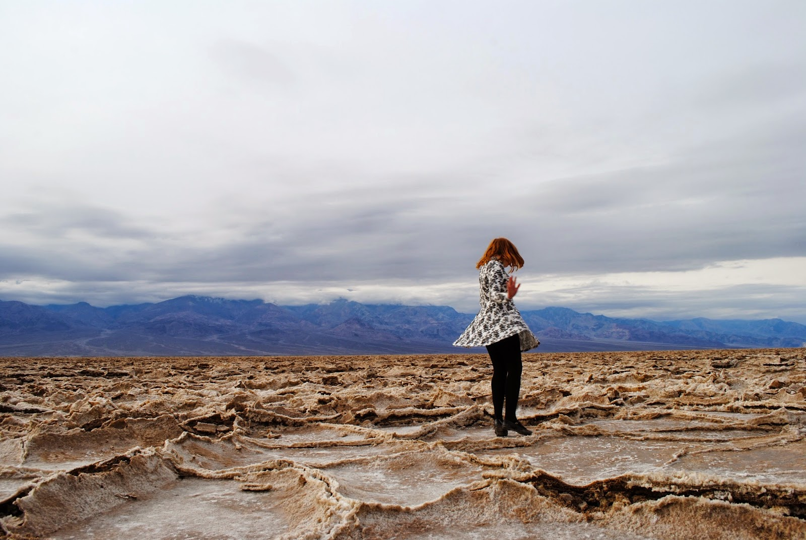 Visiting the Salt Flats at Death Valley National Park on a day trip from Las Vegas