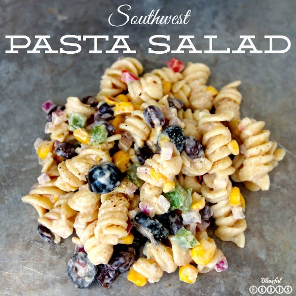Southwest Pasta Salad @ Blissful Roots