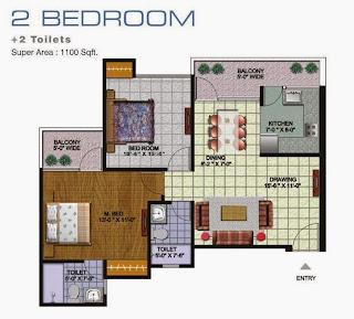 Amrapali Golf Homes :: Floor Plan