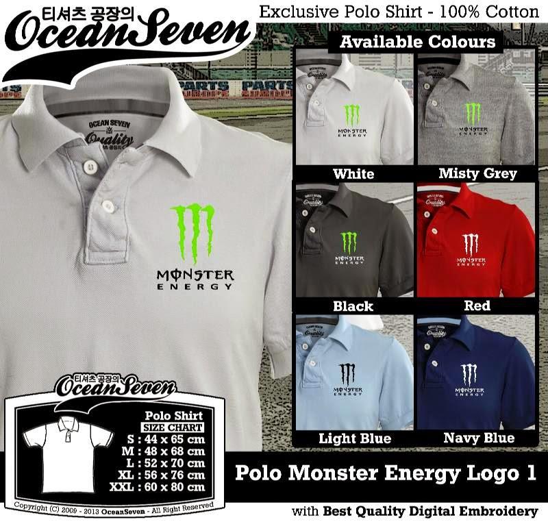 Kaos Polo Monster Energy Logo 1