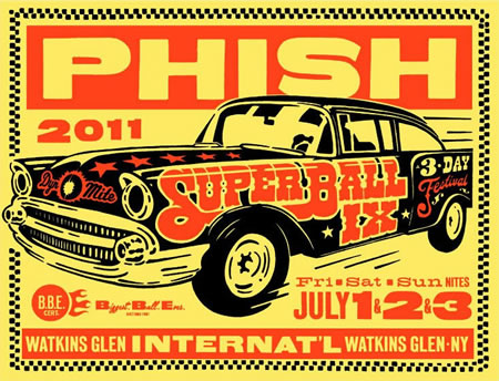 Phish: Official 7/1-7/3 Super Ball IX LE Poster by Ames Bros