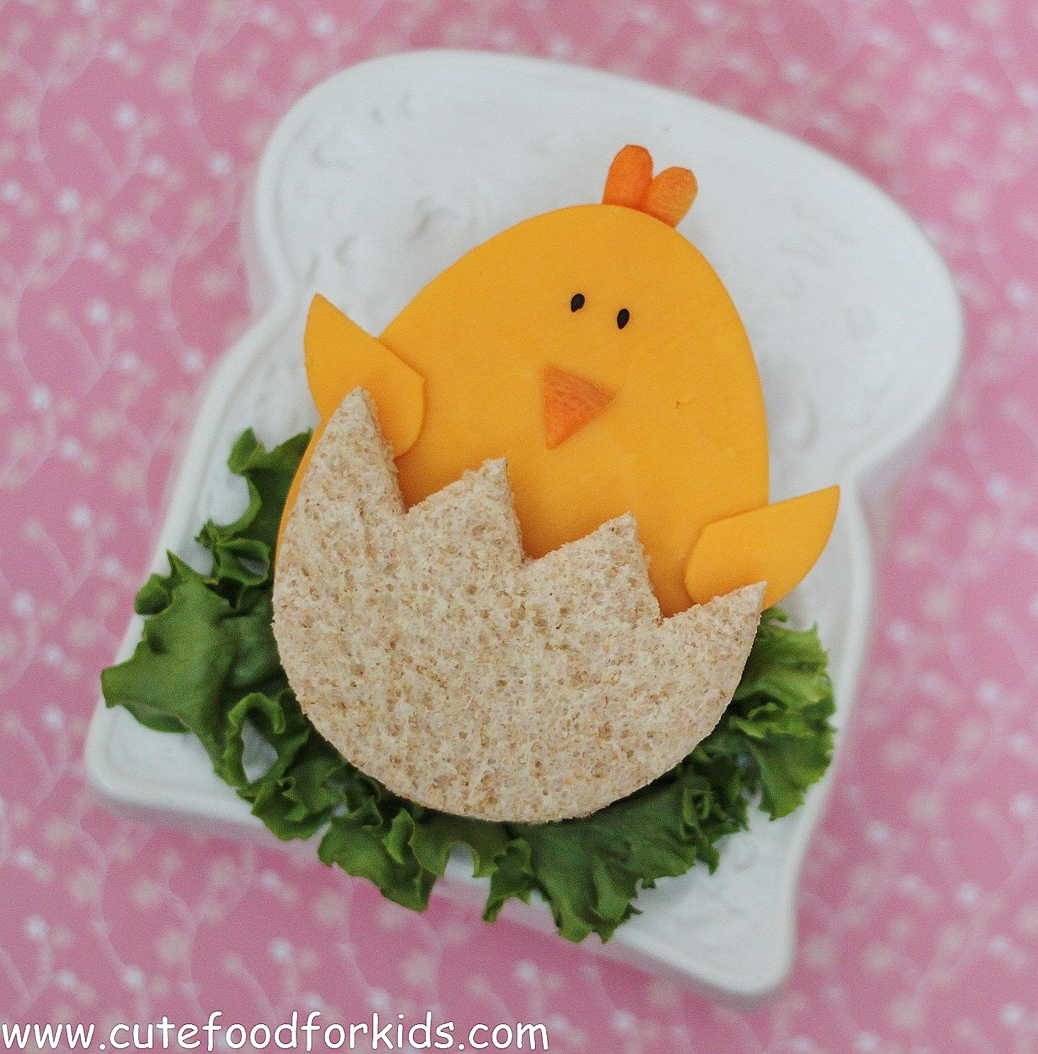 Cute food for kids easter sandwich baby chick for Easter ideas for food
