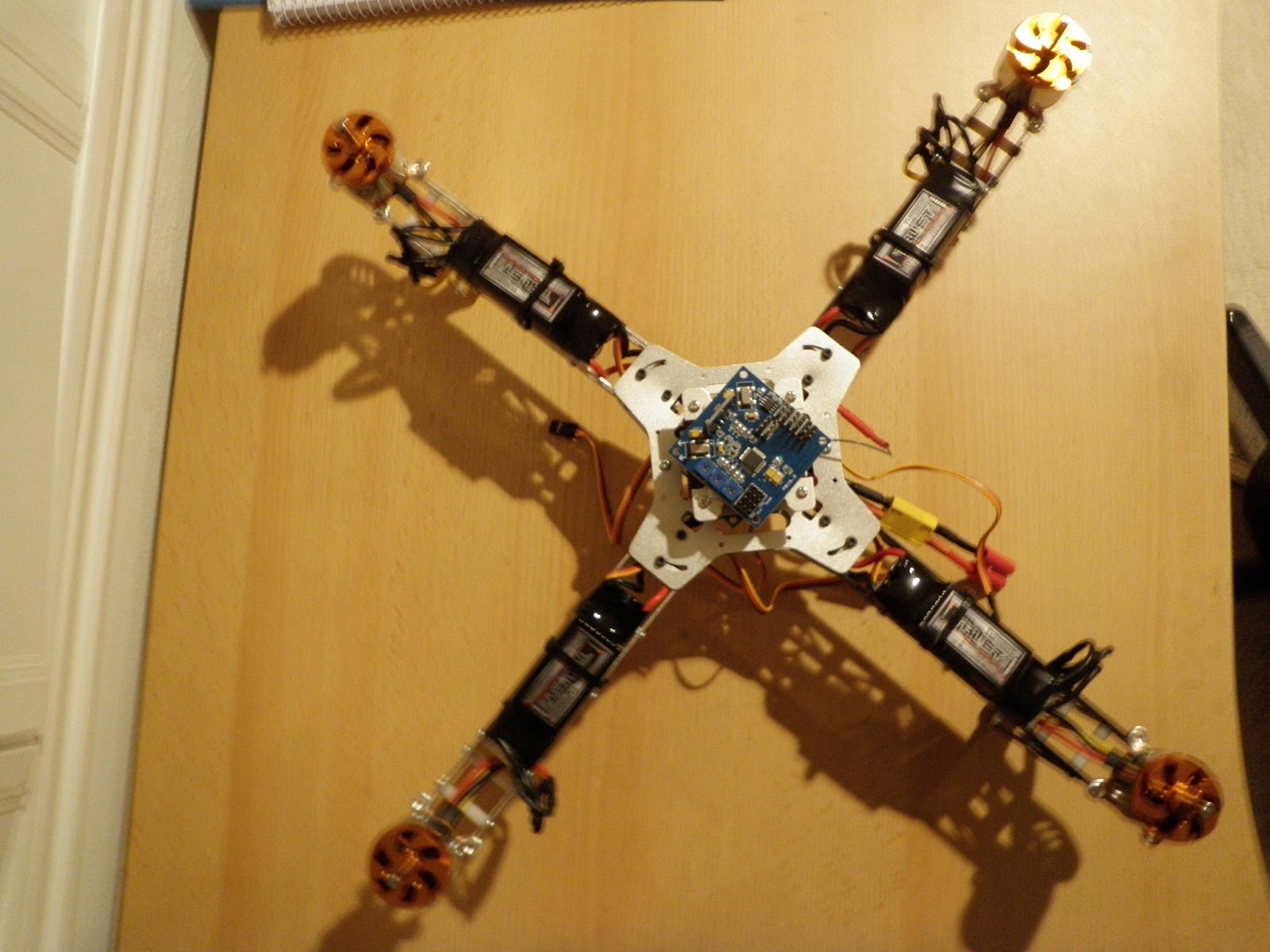 Beginner QuadCopter Project: Electronics Hookup and Frame Reassembly