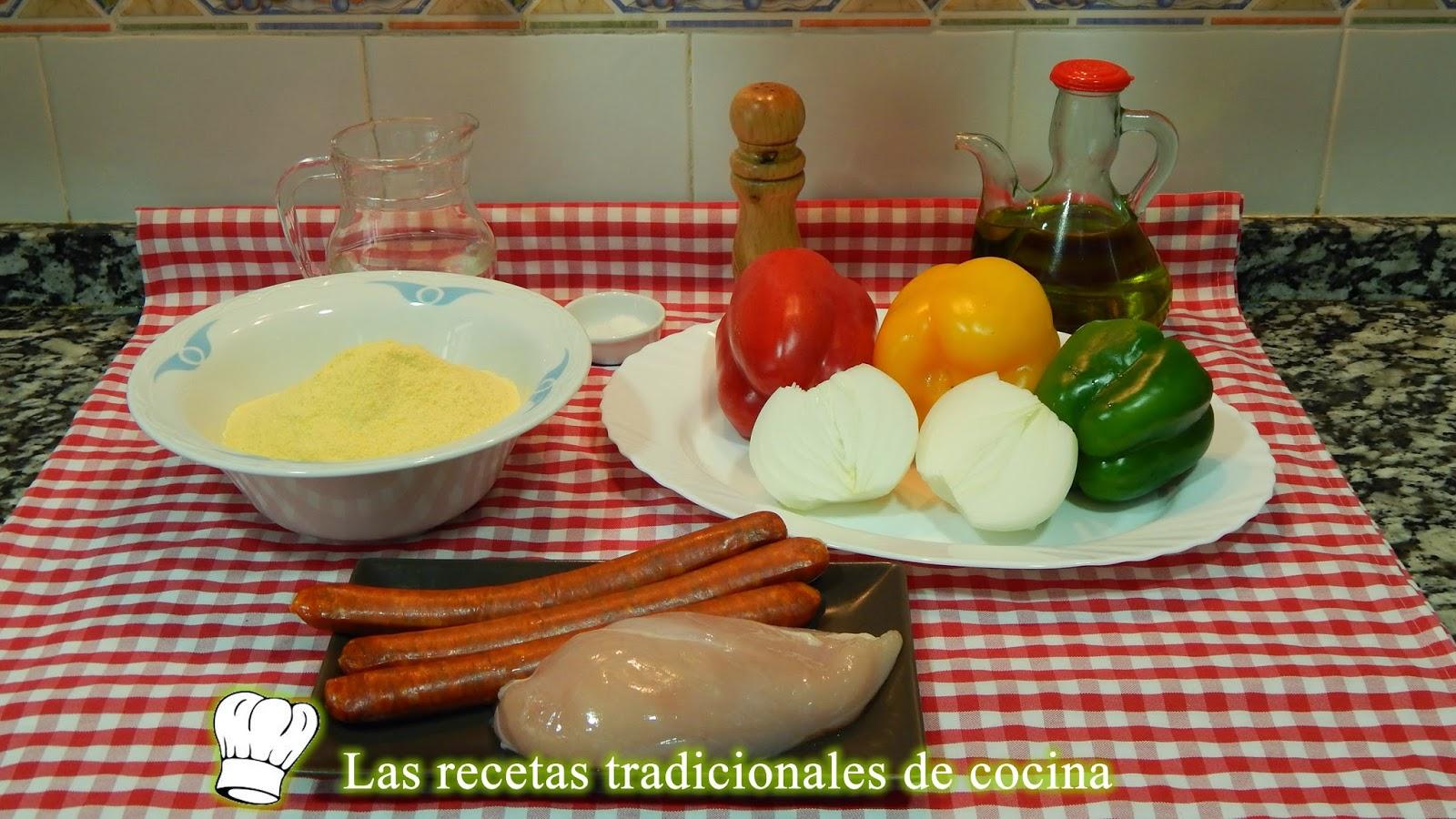 Receta de talos rellenos o tortitas de maíz