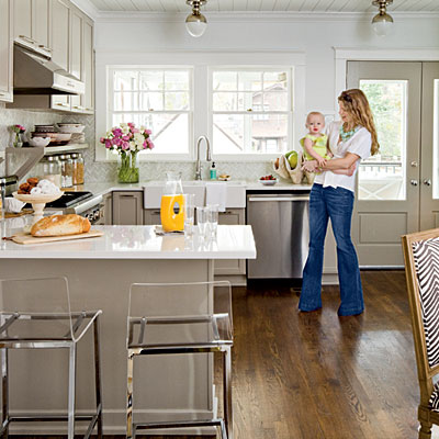 Mix and chic stylish and functional cottage kitchen and for Southern style kitchen ideas
