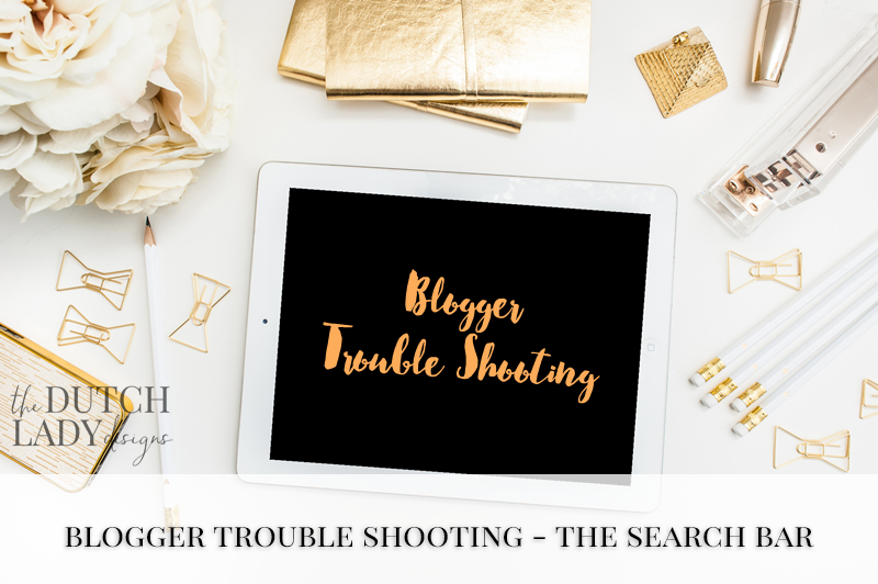 Blogger trouble shooting - The search bar