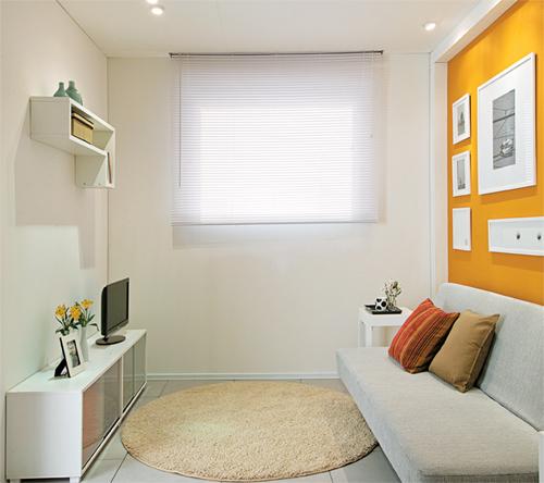 Sala Tv E Home Office ~ Para possibilitar a fixação de recados na parede foi usado um fundo