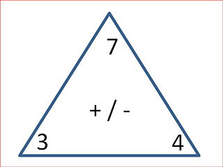 Fact Family Triangles Template - multiplication and ision fact ...