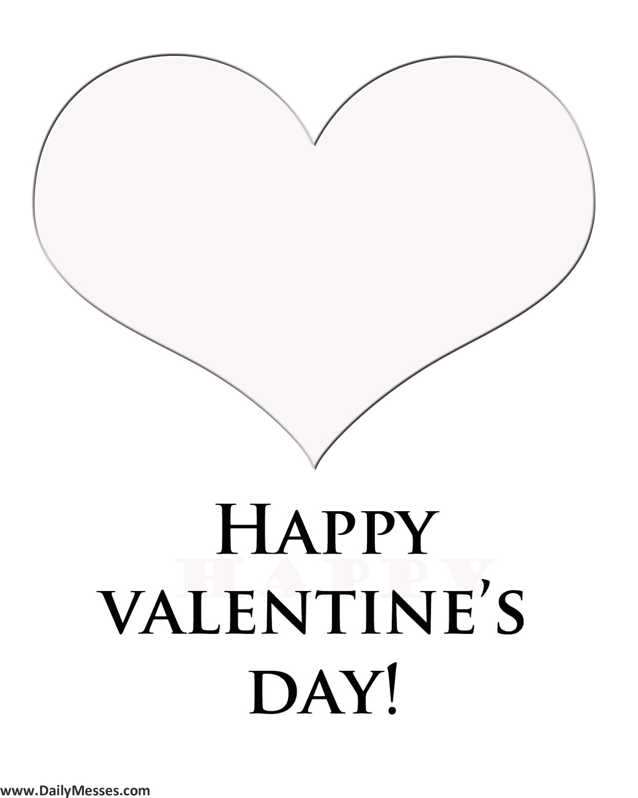Daily Messes: Valentine\'s Day Coloring Page
