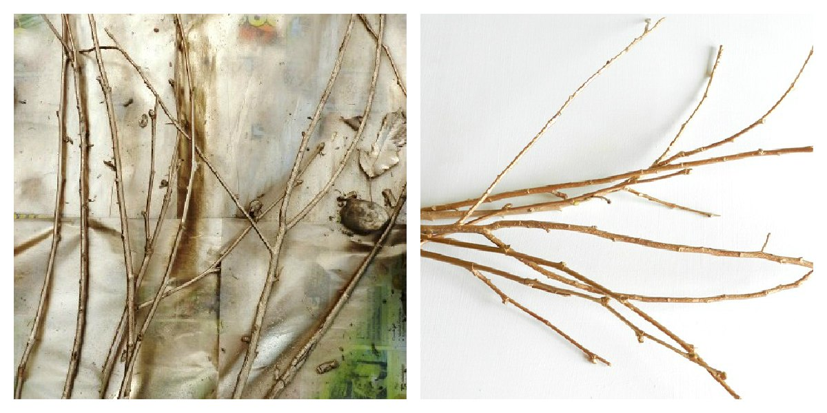 Step By Step On How To Spray Paint Twigs