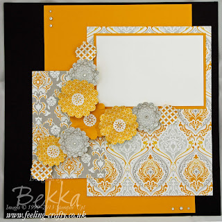 Scrapbook Page featuring the Eastern Elegance Papers by Stampin' Up! Demonstrator Bekka Prideaux - check her blog each Saturday for a new Scrapbook Page