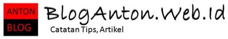 Selamat Datang di blog anton web dot id..