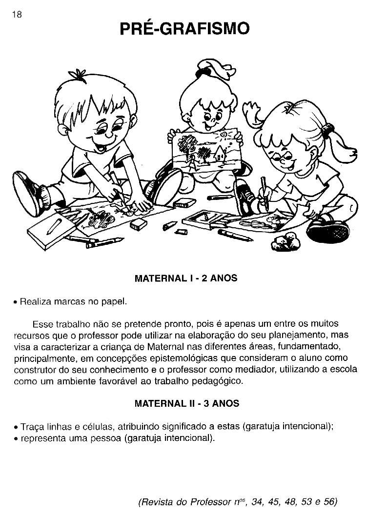 Preferência PROJETO SOCIALIZAÇÃO MATERNAL 1 E 2   Cantinho do Educador Infantil CV18