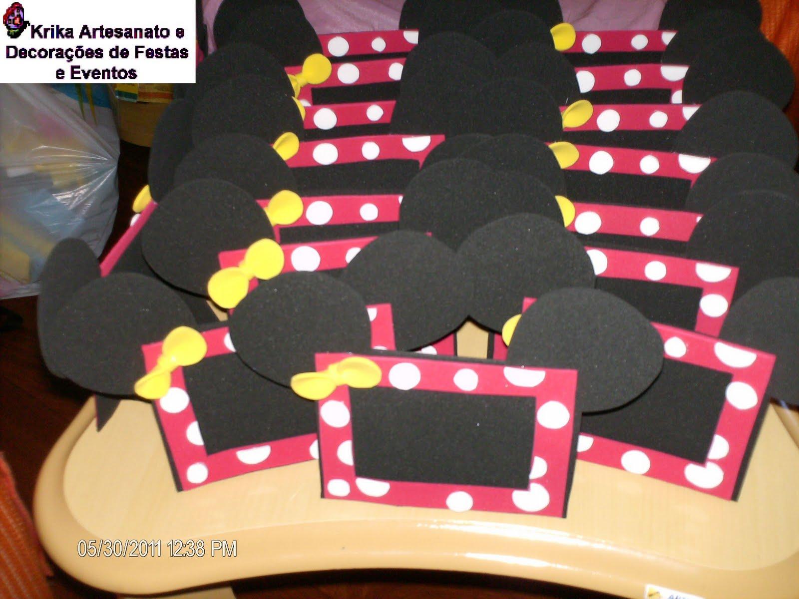 Retratos Tema Minnie - Lembrancinhas para Festa Infantil Tema Minnie