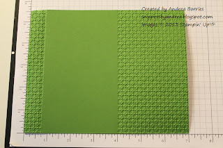 Embossed green card base for crocodile card.