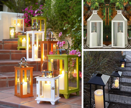 Entertaining With Style Arranging Flowers In Outdoor Lanterns Blue I Style