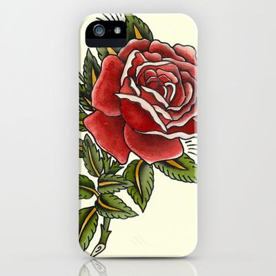 sebastian orth - traditional tattoo style rose iphone ipod