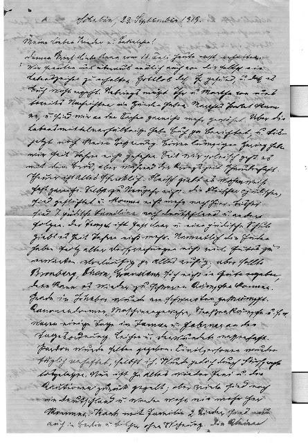 1919 German Letter from Alexander Braunhart to Anna Braunhart Tulman