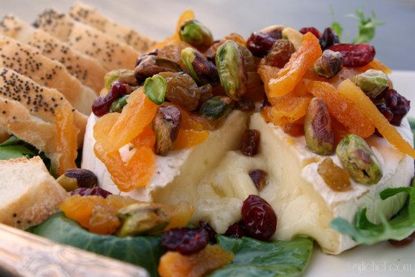 Baked Brie w/ Pistachios & Dried Fruit