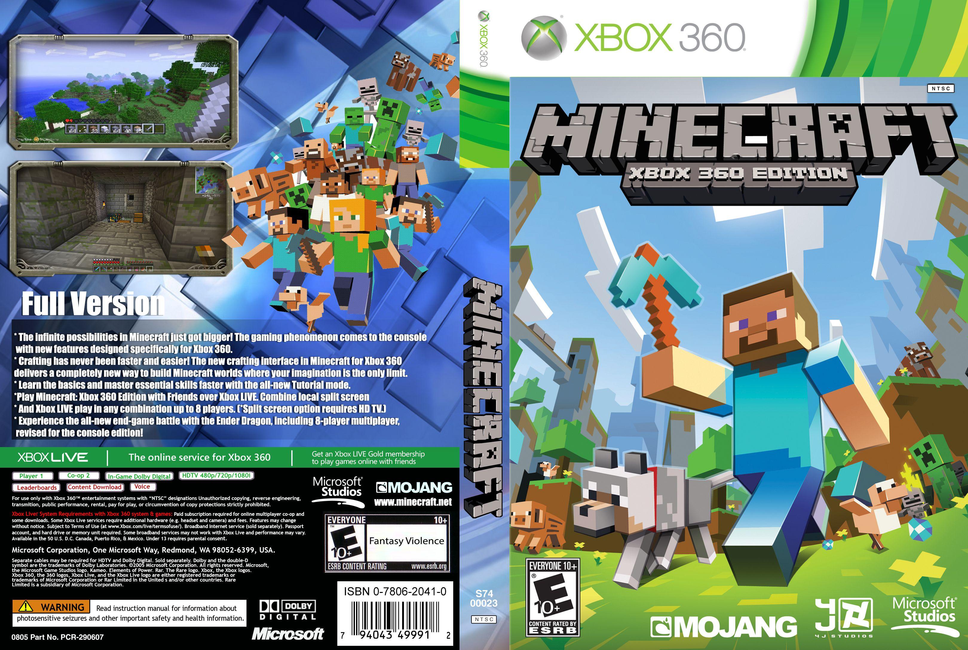 Capa Minecraft Xbox 360 Edition