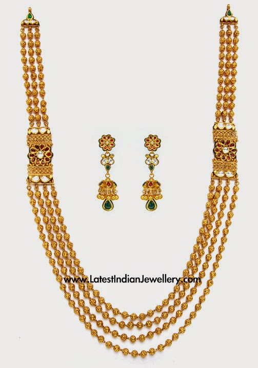 Antique Gold Balls Long Haram