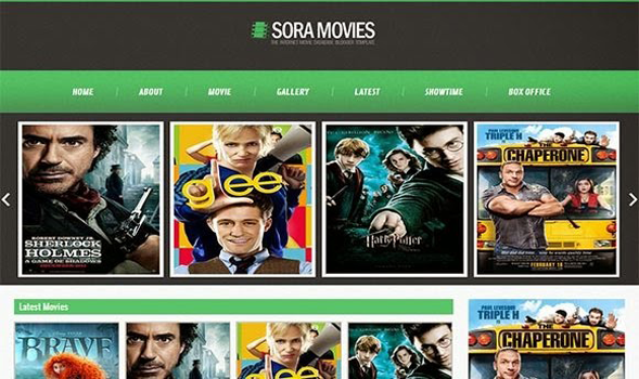 Sora Movies Responsive Blogger Template